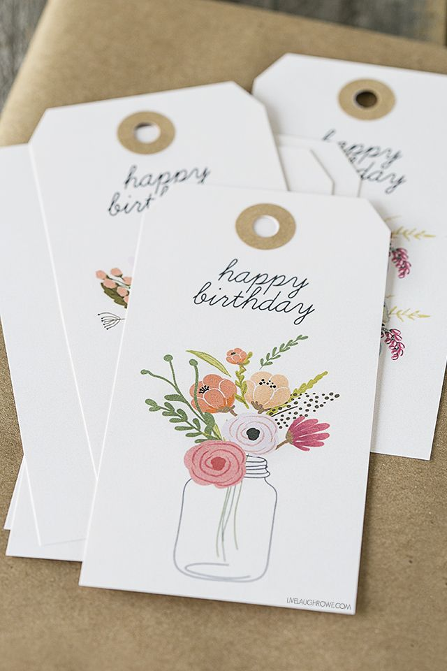 graphic about Free Printable Birthday Gift Tags identify Birthday Items Commitment : Free of charge printable birthday present