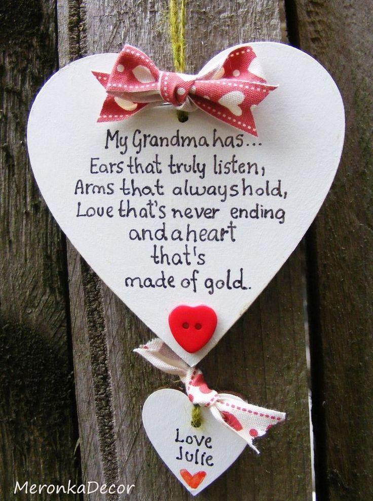 Description Handmade Heart No1 Grandma Mum Nanny Mothers Day Birthday Gift