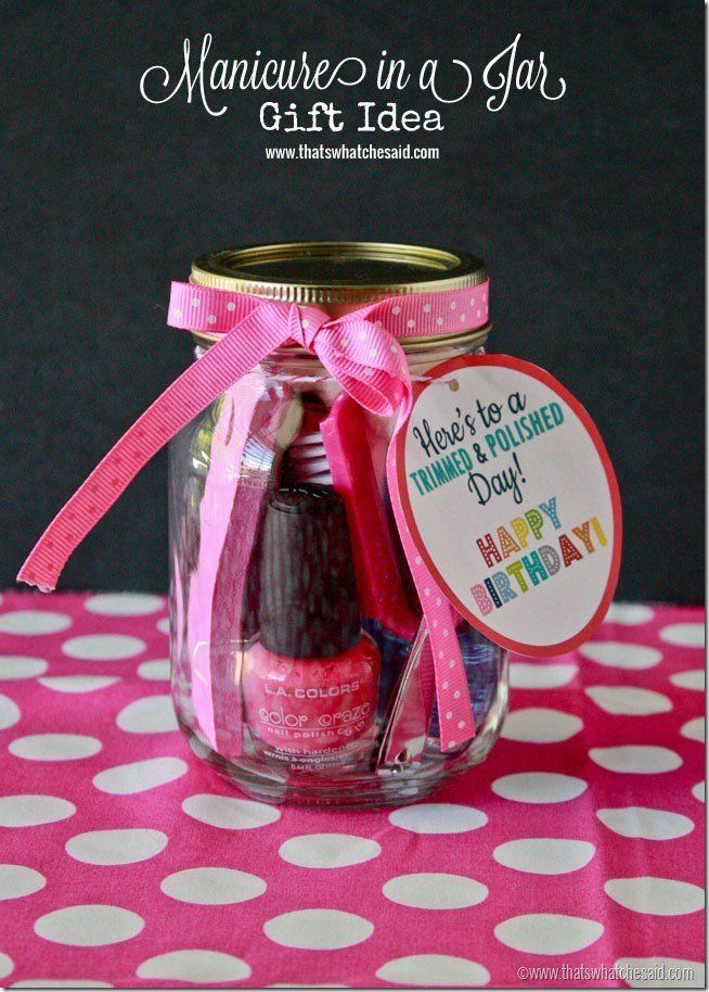 Birthday Gifts Inspiration Manicure In A Jar Gift Idea At