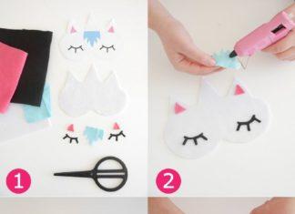 Birthday Gifts Inspiration No Sew DIY Unicorn Sleeping Masks With Free Template