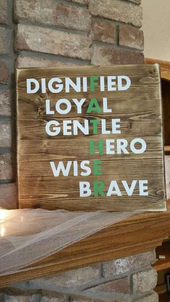 Birthday Gifts Inspiration Fathers Day Wood Sign Dad Rustic