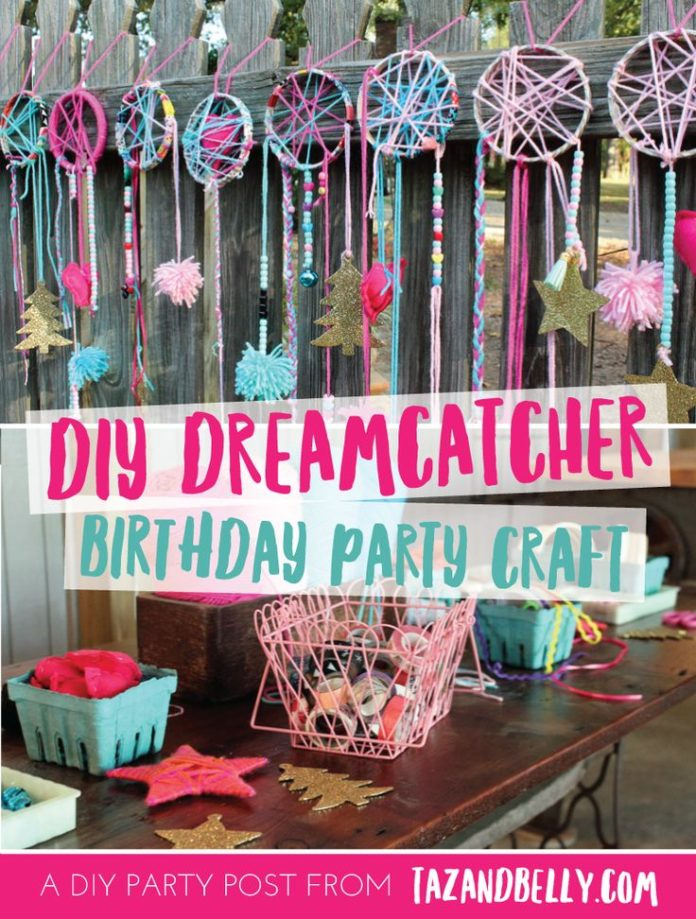 Birthday Inspiration DIY Dream Catcher Party Craft