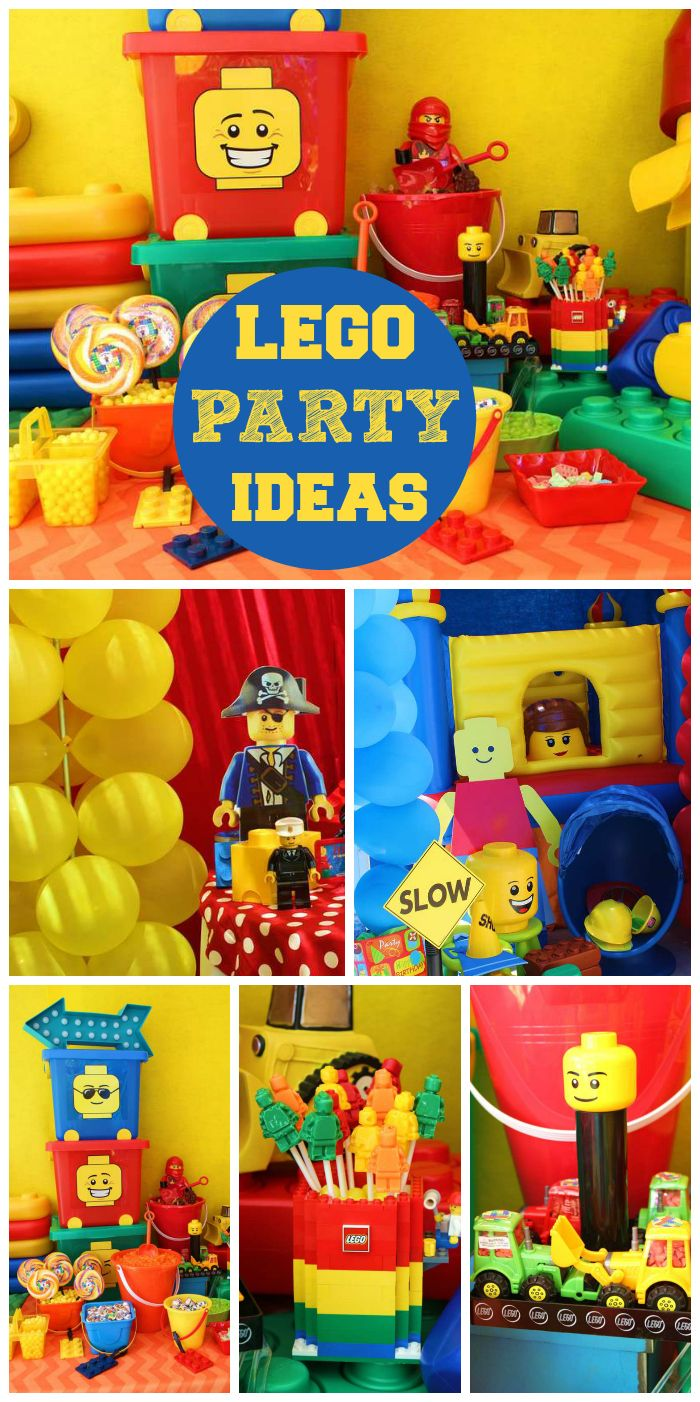 Description. A Lego boy birthday party ...  sc 1 st  Happy Birthday & Birthday Party : A Lego boy birthday party in bright colors with fun ...
