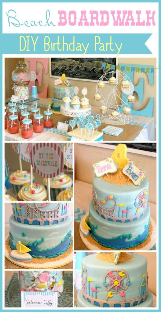 Birthday Party Adorable Beach Boardwalk Idea From TheDomesticHeart