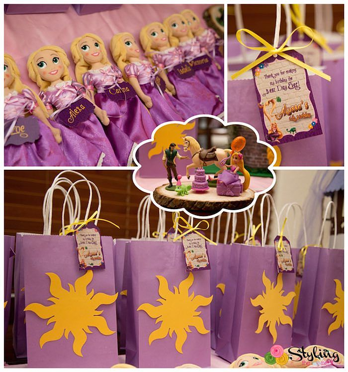 Birthday Party Inspiration From The Cute Braided Rapunzel Hair