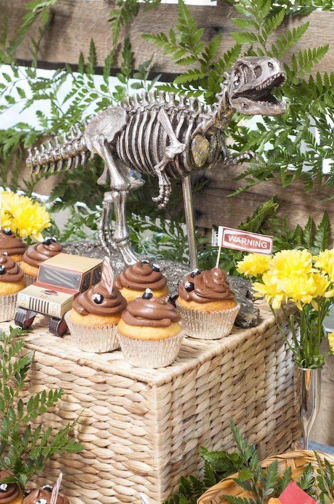 Birthday Party Inspiration Jurassic Park Cupcakes