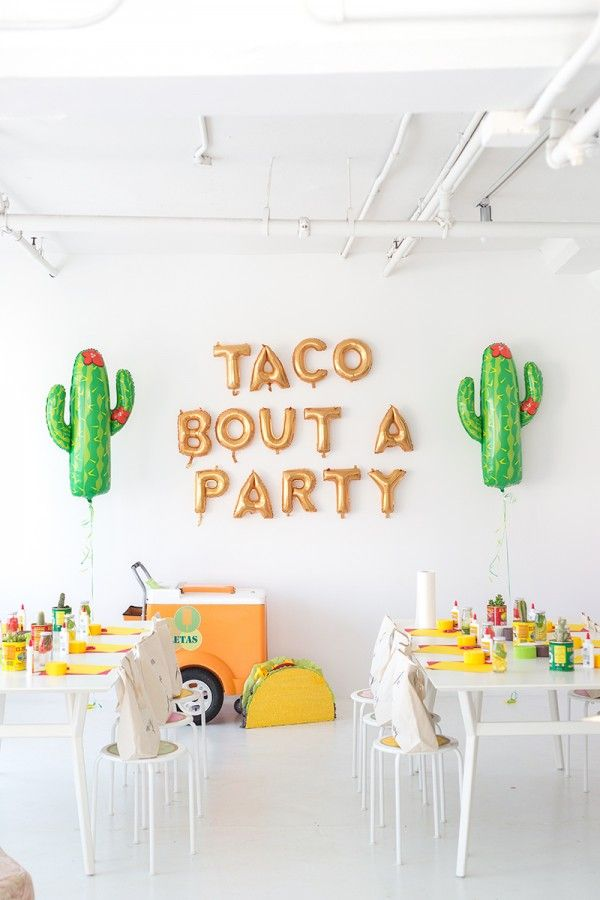 Birthday Party Inspiration Taco Kidsdinge