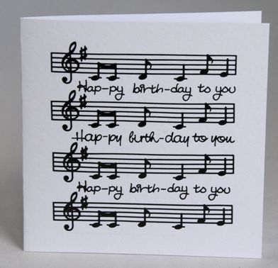 Birthday Quotes Music Card Unique And Modern Inspiration
