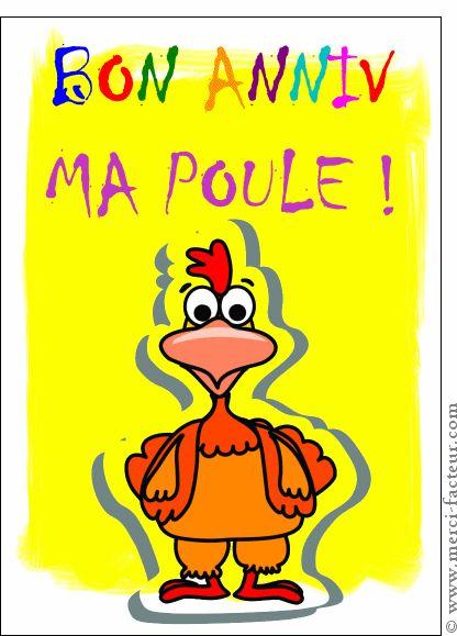 Happy Birthday Wiches Bon Anniversaire Ma Poule Carte