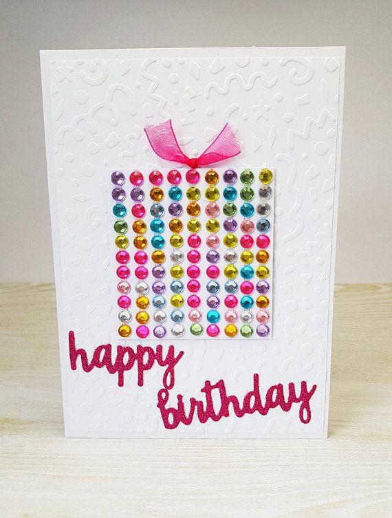 happy birthday wiches happy birthday card rainbow present blank