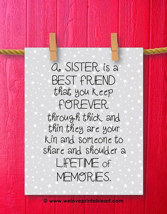 Description Best Friend Sister Gift