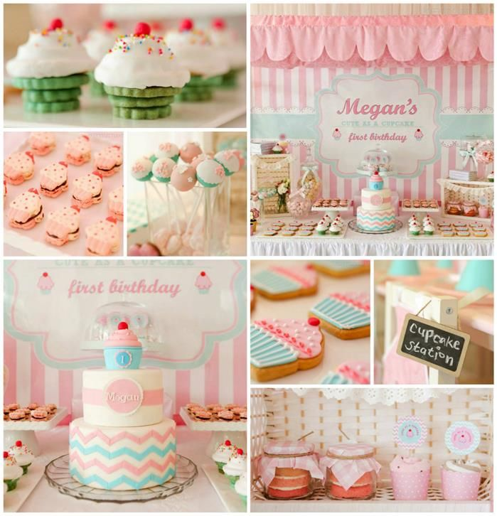 Description Cupcake Shoppe 1st Birthday Party