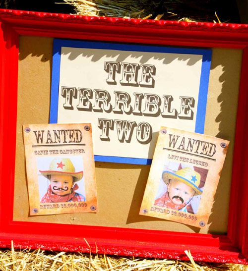 Birthday Party Inspiration Cowboy Themed Terrible Twos