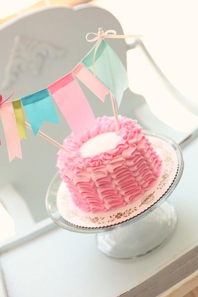 Phenomenal Birthday Party Inspiration Ruffle Smash Cake Pink Ruffle First Birthday Cards Printable Nowaargucafe Filternl