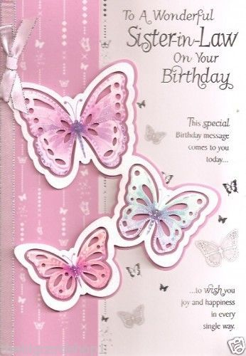 Happy Birthday Wiches To A Special Sister In Law Quality Cards