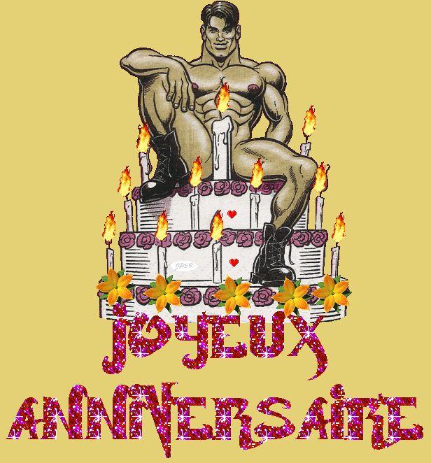 Happy Birthday Wiches Joyeux Anniversaire Homme Sexy Gateau