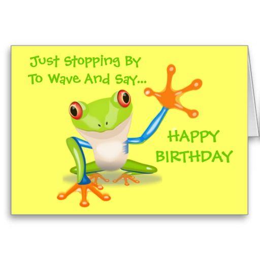 Birthday Quotes Cute Frog Funny Animal Kids Happy Birthday