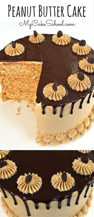 Birthday Cake : This homemade Peanut Butter Cake Recipe is