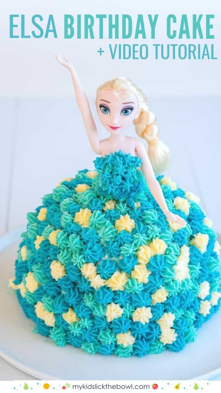 Birthday Party Elsa Ice Cream Cake An Easy Diy Birthday