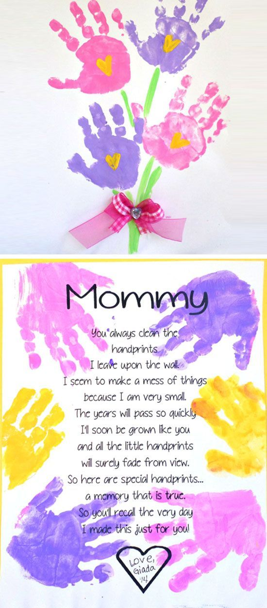 Birthday Gifts Inspiration Printable Handprint Mothers Day Poem