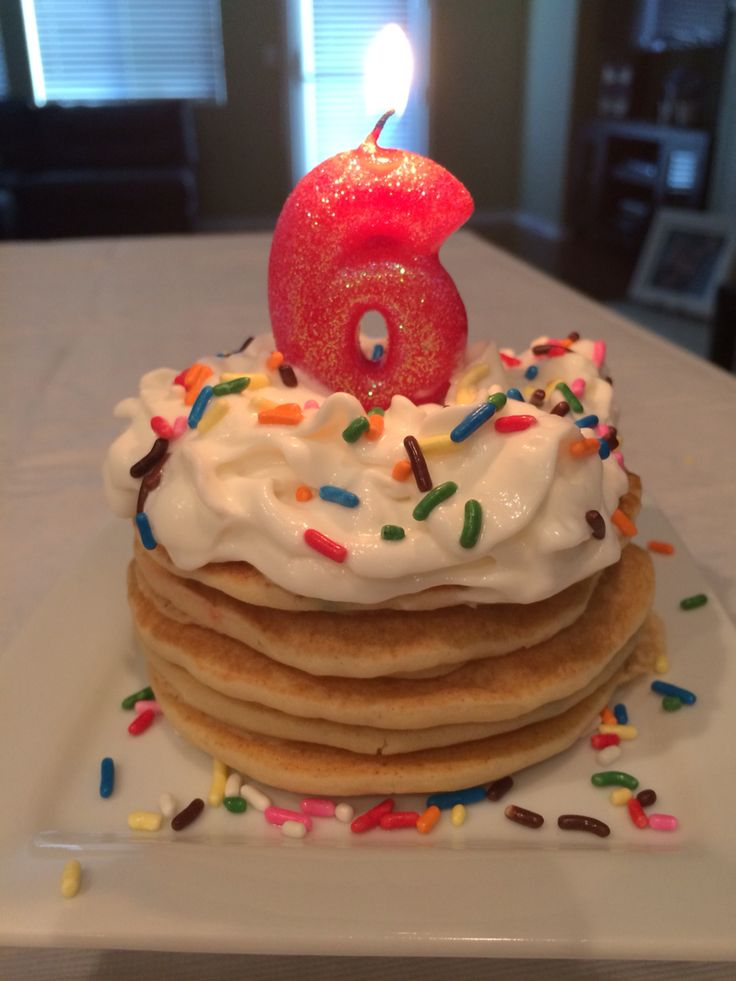 Birthday Decoration Funfetti Mini Pancakes Lotsa Whipped Cream