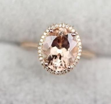 19f13e39c5ca7 Birthday Gifts Ideas : 18K Rose Gold 2.5CT Flawless Oval Morganite ...