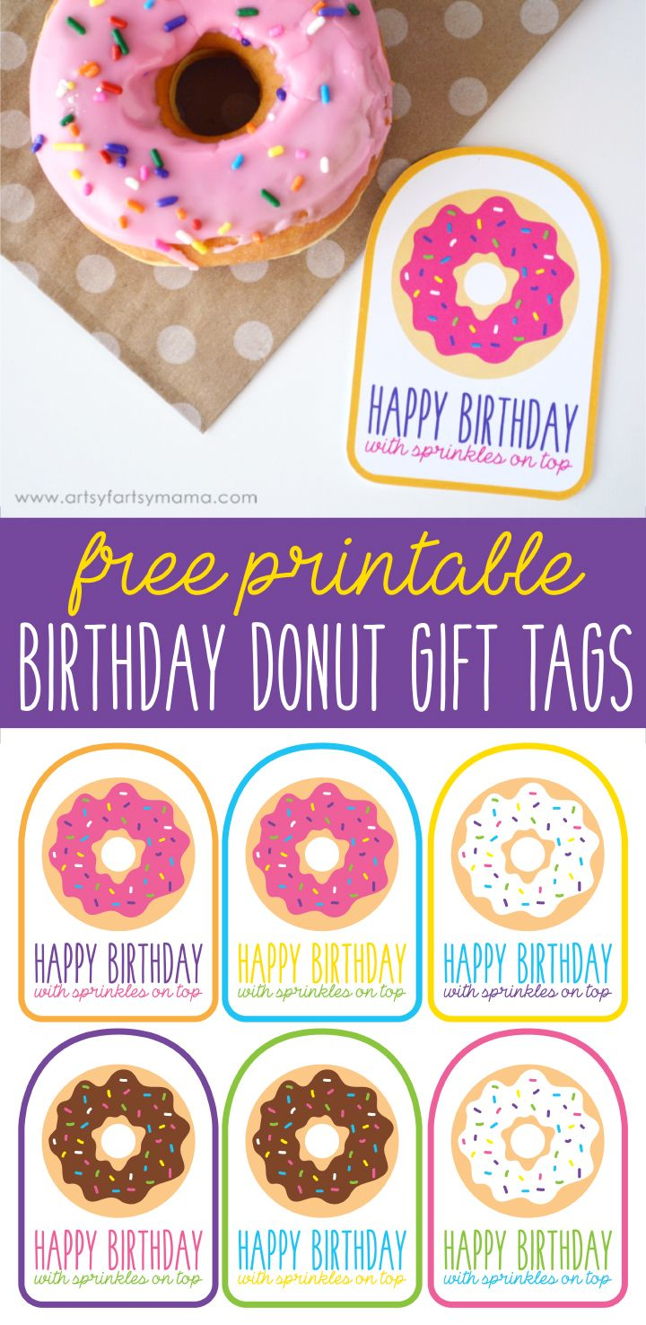 Description Download Free Printable Birthday Donut Gift