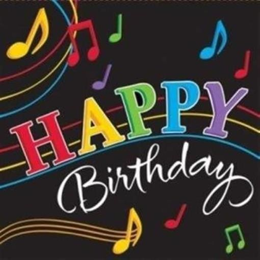 Birthday Quotes Dancing Musical Notes Happy Birthday 3 Ply Lunch Napkins 16 Pack Askbirthday Com You Number One Source For Beautiful Collection Of Best Happy Birthday Wishes With Lovely Special Funny