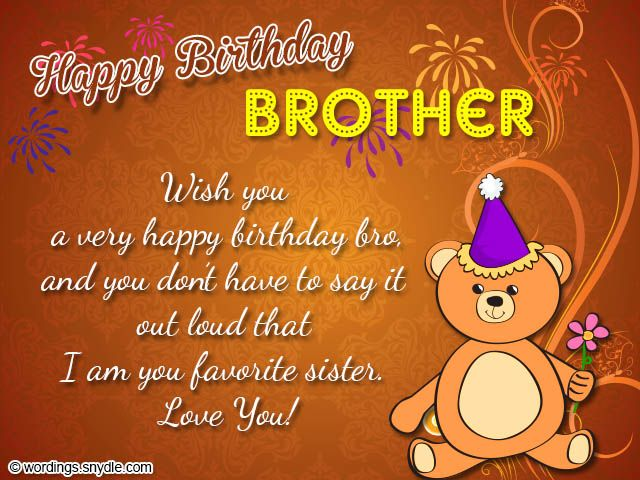 Description Brother Birthday Wishes Best