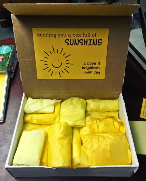picture regarding Box of Sunshine Printable identified as Birthday Presents Drive : Box of Solar - AskBirthday