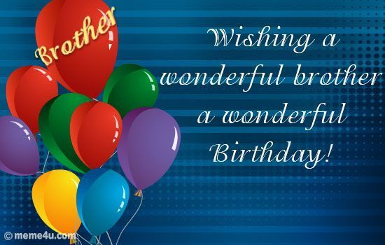 Happy Birthday Brother Cards For