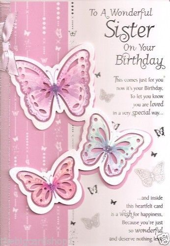 Description Happy Birthday Sister Quality Cards