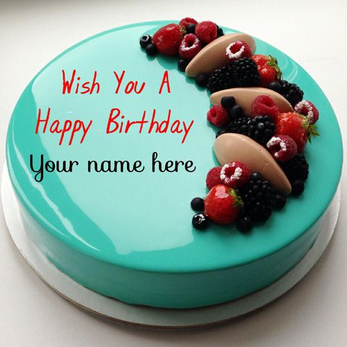 Fabulous Happy Birthday Brother Wish You A Happy Birthday Cake With Name Birthday Cards Printable Giouspongecafe Filternl