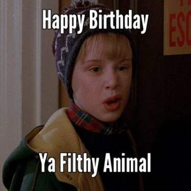 Happy Birthday Brother : Ya Filthy Animal - Funny Happy