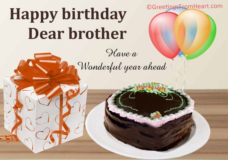 Happy Birthday Brother : greeting card for birthday wishes