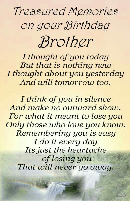 Description Happy Birthday Brother In Heaven