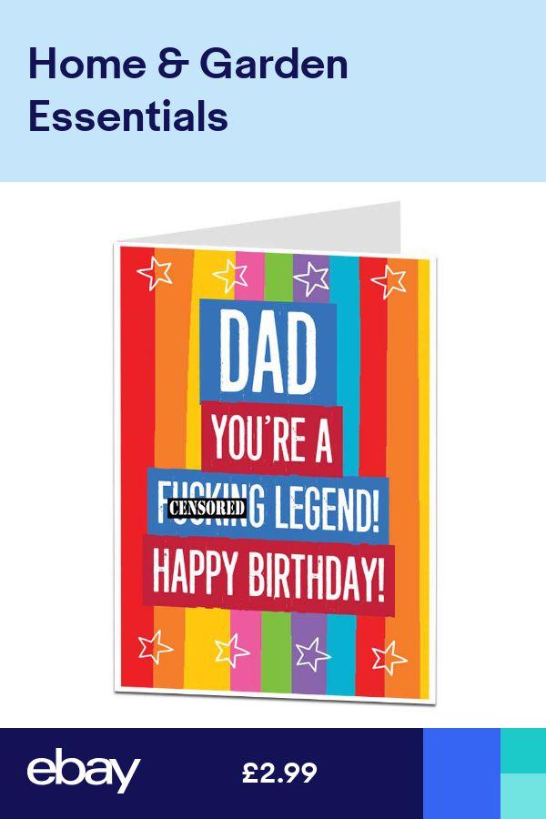 Description Happy Birthday Card For Dad Funny