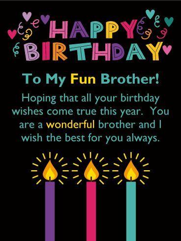 Description To A Wonderful Brother Happy Birthday Card