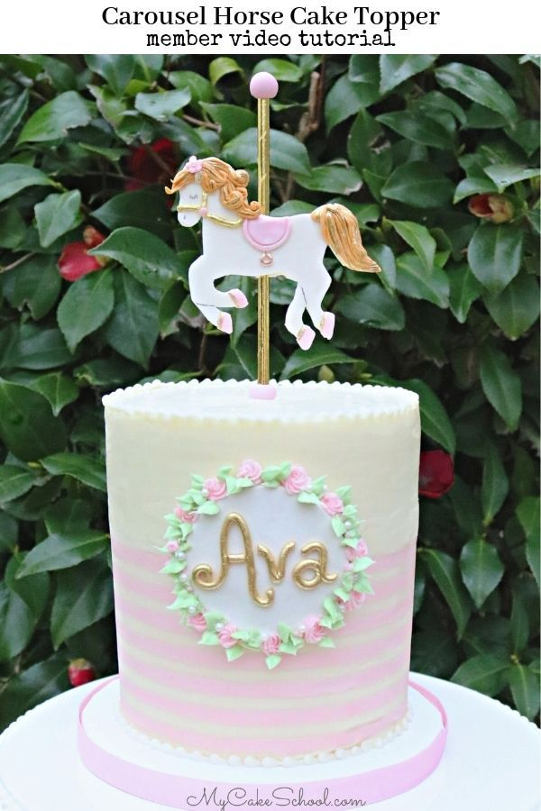 Fine Birthday Cake Cute Carousel Horse Cake Topper By Mycakeschool Personalised Birthday Cards Xaembasilily Jamesorg