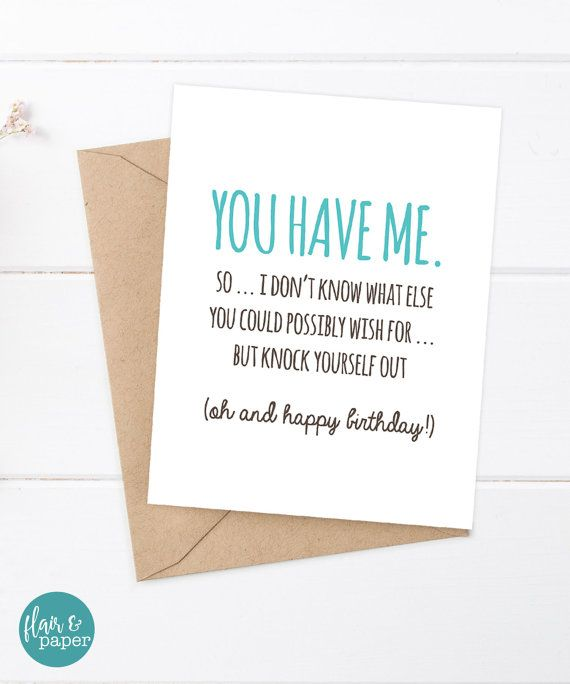 Birthday Quotes : Birthday Card Funny Boyfriend Card Funny ...